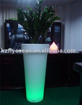 Blumentopf Beleuchtung | Fo 9509 Led Blumentopf Hohen Runden Pflanzer Fuhrte Blumentopf