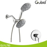 CUPC twin head bathroom thermostatic shower mixer faucet