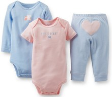 Original Carters Baby Boys Girls Clothings Sets Carters Baby Models Bodysuits Pants 3pcs Set There are