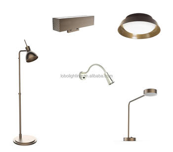 UL Listed Brushed Nickel Hotel Lamps With Outlets Bedside Wall lamps
