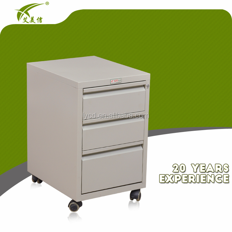 Small Cash Drawer Cabinet 3 Steel Mobile Pedestal Product On