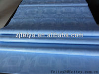 Sweet New Blue Damask Shadda Guinea Brocade Cotton Fabric Bazin Riche African Textiles For Wedding Party FEITEX