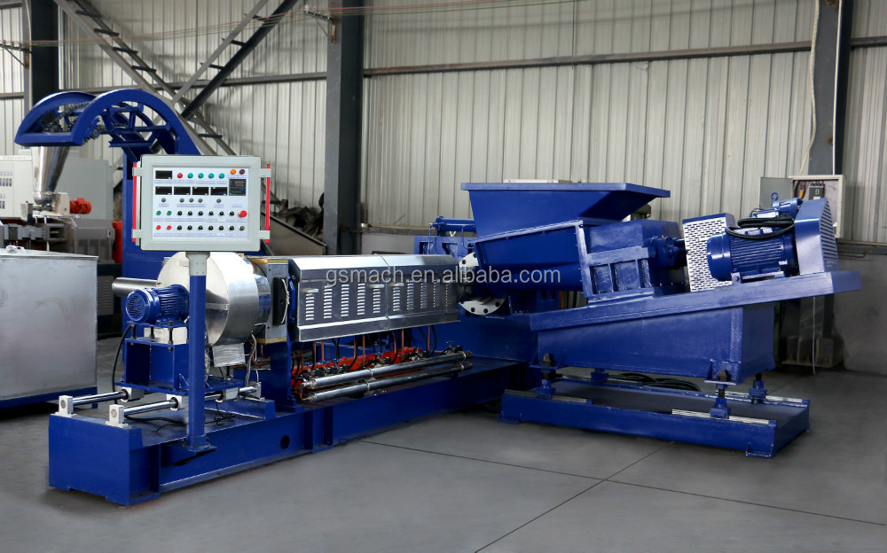 PP PE+CaCo3 filler master batch plastic granulating machinery