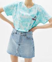 2017SHIXIAN Summer ladies fashion design short jean mini skirt