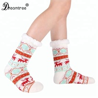 2018 Fashion Chinese Xmas Christmas Stocking Sock Wholesale Custom Hand Knitted Wool Teen Girls Tube Christmas Stocking Sock