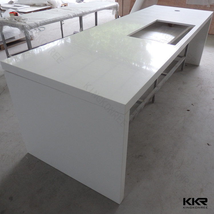Restaurant White Table Tops Marble Look Kkr Solid Surface Countertop Material Buy Quartz Countertop Pure White Flecks Restaurants White Table Marble