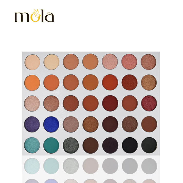 Unbranded cosmetics private label 35 color Jaclyn hill glitter eyeshadow palette supplier