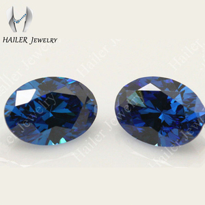 Synthetic Oval Cut Deep Blue Gemstone Names