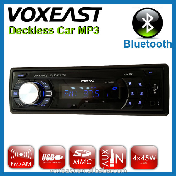12V detachable panel car usb flash mp3 player fm am with Bluetooth/RDS