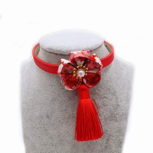 Japanese flower pet collar tassel belt cat and dog pet collar spike dog collars