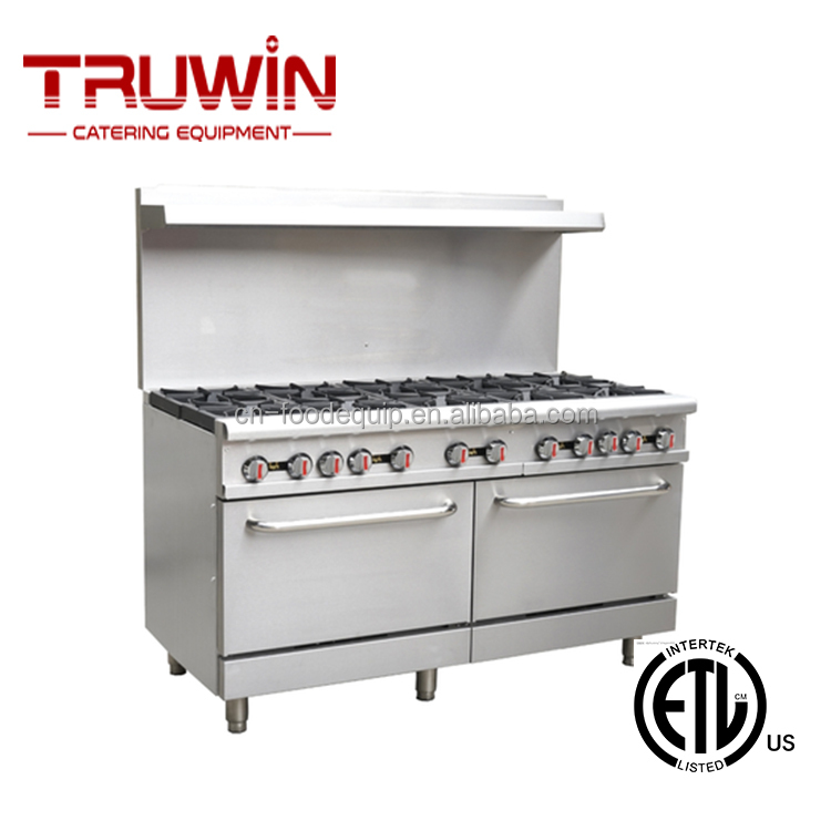 Rgr60 10 Burners Industrial Gas Cooker With Oven