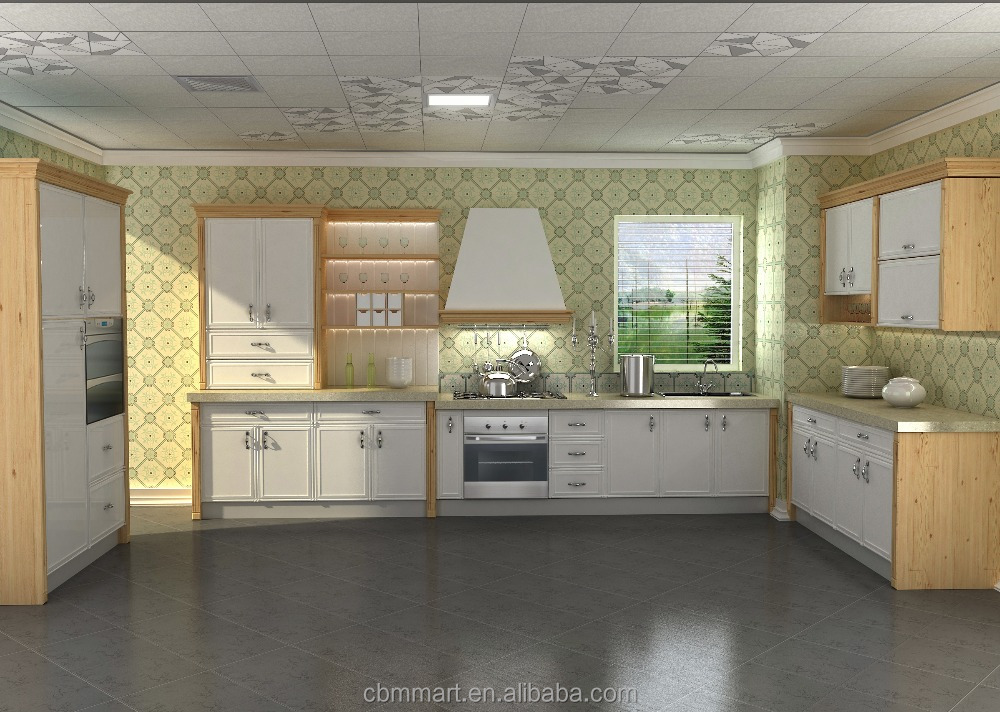 White color modern kitchen cabinet