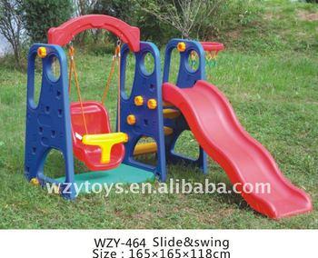 Schommel Voor Tuin : Kleurrijke huis tuin baby schommel en glijbaan met basketbal ring