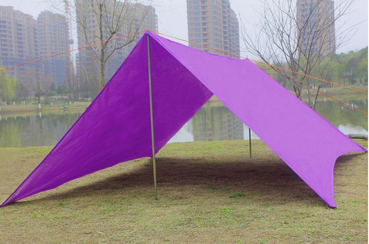 Great Outdoor Camping Portable Sunshade Shelter/ Rain Fly Tarp /beach Awning