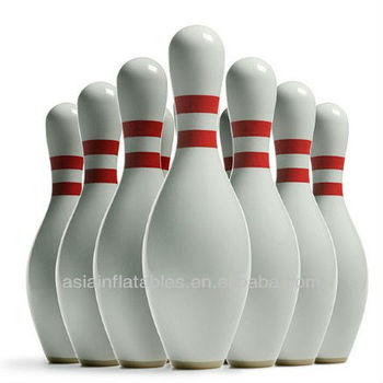 Inflatable replica bowling pins for advertising giant for Decoration quille de bowling