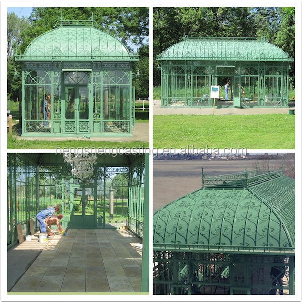 Trade Assurance Galvanized Steel Frame Garden Greenhouse