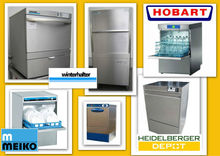 Variety of commercial dishwashers, secondhand and new