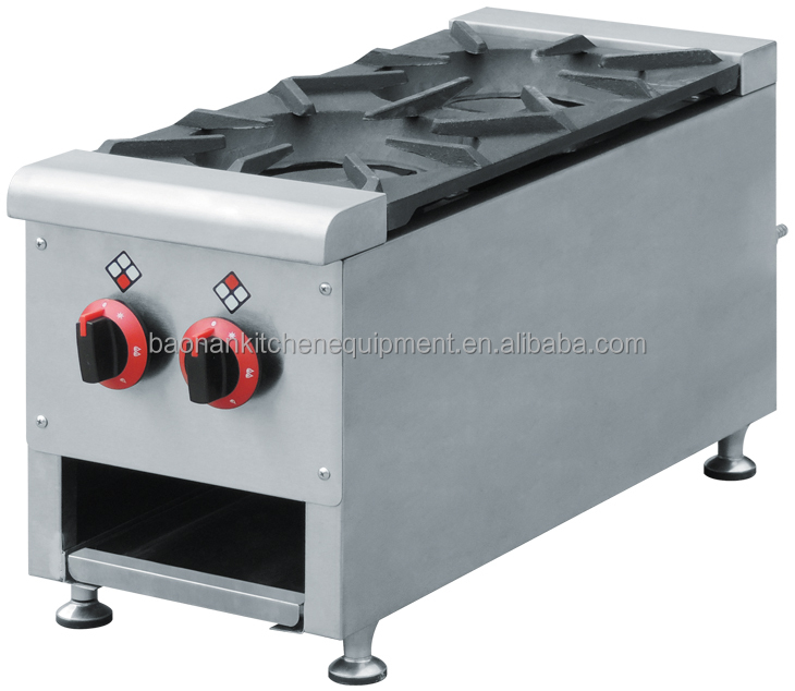 Chinese Restaurant Kitchen Equipment chinese restaurant equipment 2 burner table top gas stove,open gas
