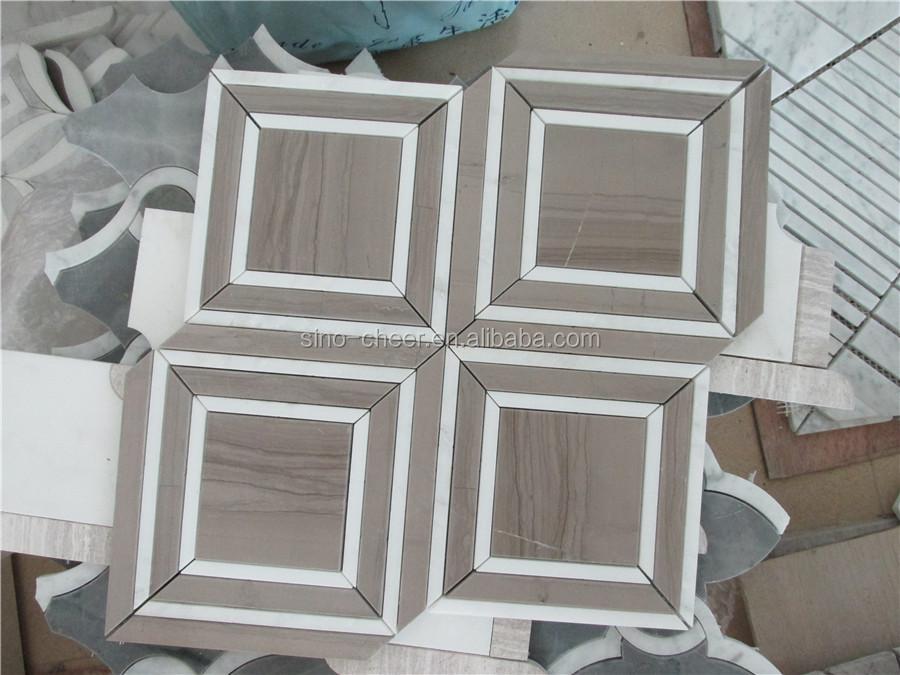 M rmol blanco hexagonal peque o mosaico de azulejos para for Mosaico para bano precios
