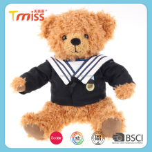 Wholesale OEM custom cute stuffed soft toy plush school uniform teddy bear