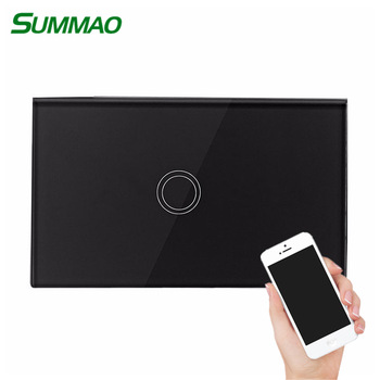 smart home wifi 1 gang switch touch switch controlled by android or ios app google alexa home electronic