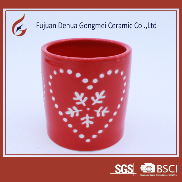 ceramic candle holder for wedding decorative candle jars