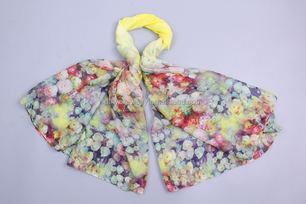 latest flower printed turkish scarf hijab