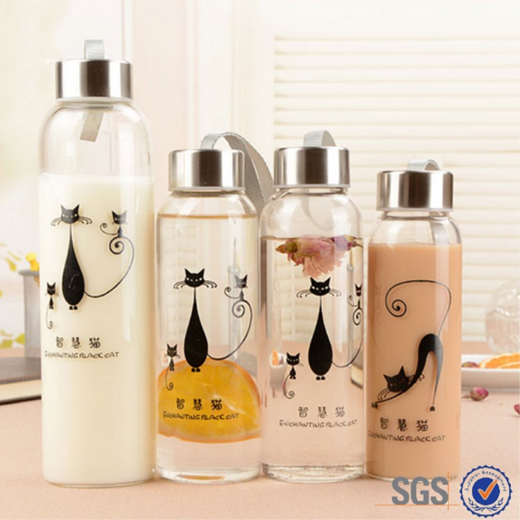 300ml 500ml <strong>sports</strong> drinking bottle Boba bubble tea glass bottes