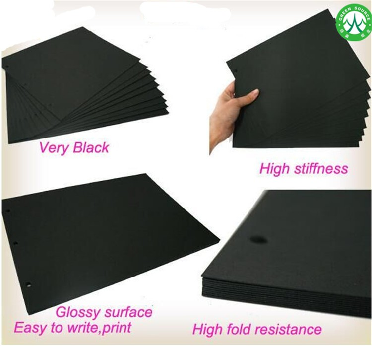 Black Color Paper For Greeting Card Photo Frame Clothing Tag Horn Speakers Electronic Pads