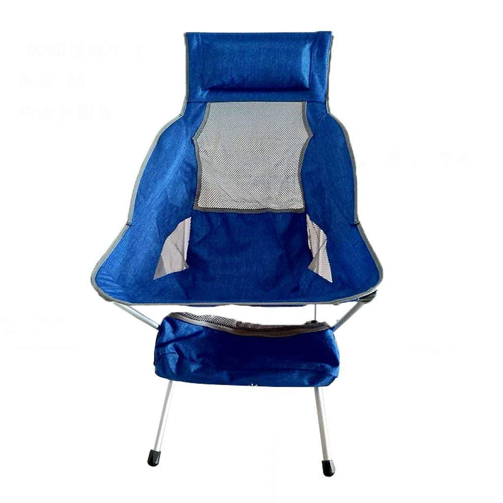 GUO XINFEN Outdoor Folding Chair - Ultra Light Portable Recliner Aluminum Alloy Camping Fishing Sketch Chair Moon Chair