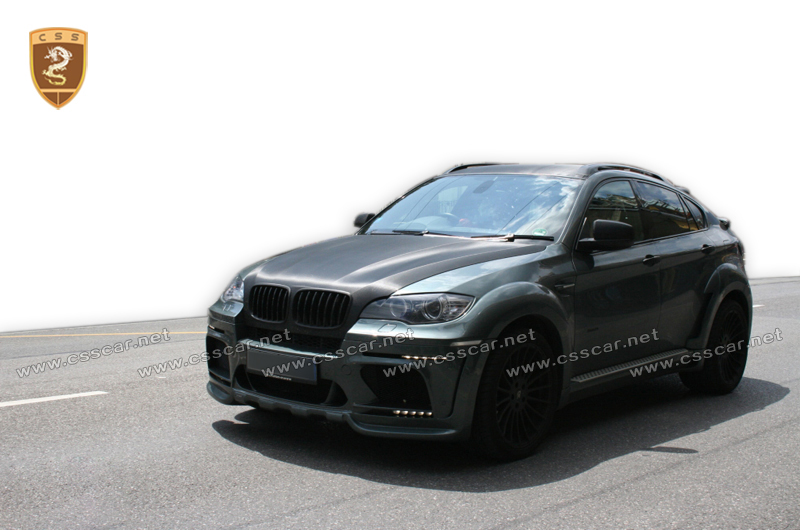 perfect fitment for bnw X6 X6M E71 to HM style wide body kit central output portion carbon fiber