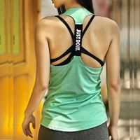 Women Y Back Just Do It Sleeveless Yoga Wrap Gym Tank Top