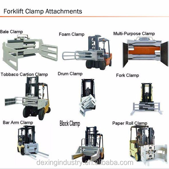 New Strong Forklift Waste Paper Bale Clamp For Sale Side