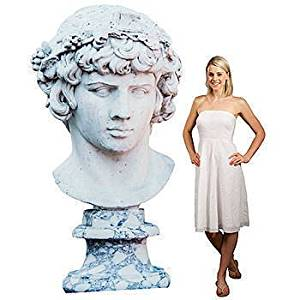 Olympus Stone Bust Statue Standee