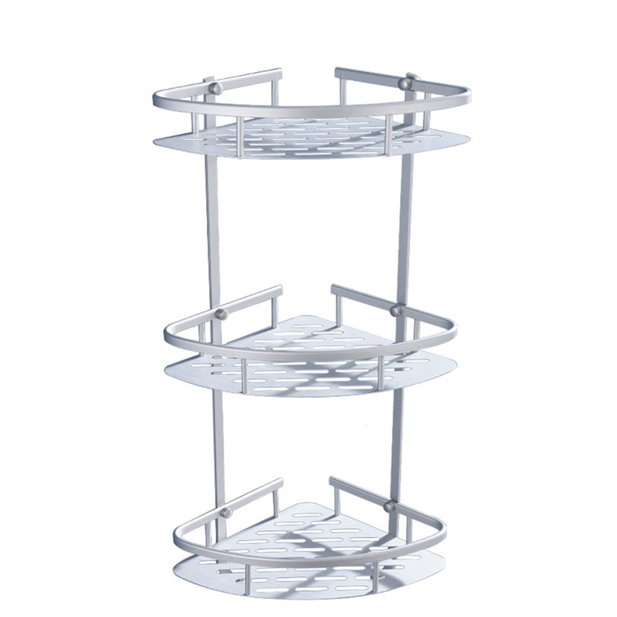 Shower Corner Shelf OUNONA Three Layer Corner Shower Caddy