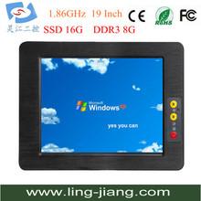 19 inch Fanless Panel PC 2GB DDR3 32GB SSD  6xCOM  4xUSB wireless touch screen monitor