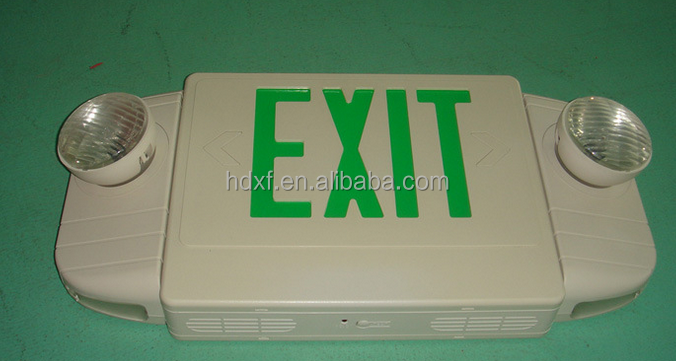 North American market exit sign light