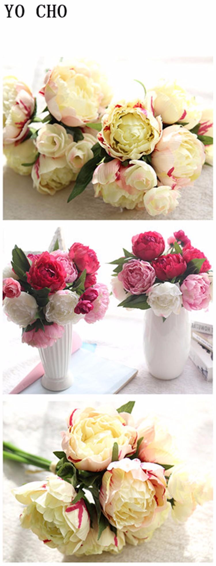 Yo Cho Import China Fabric Artificial Flower Wall Decoration Laux