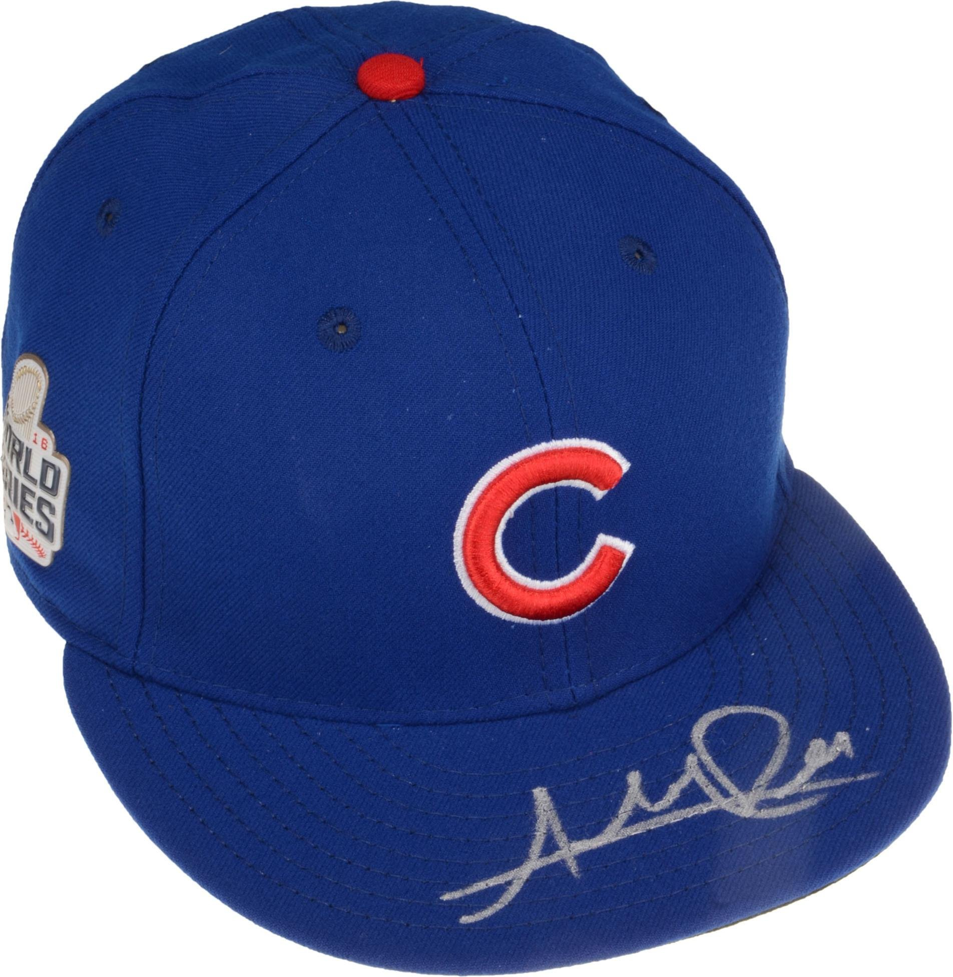172a16400b0 Get Quotations · Addison Russell Chicago Cubs 2016 MLB World Series  Champions Autographed New Era World Series Hat -