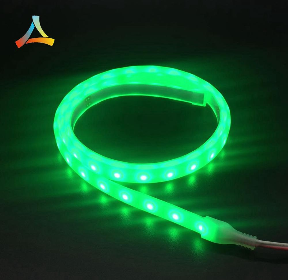 Waterproof diffused silicone tube Green color  smd2835 LED strip for Truck Van Car lights