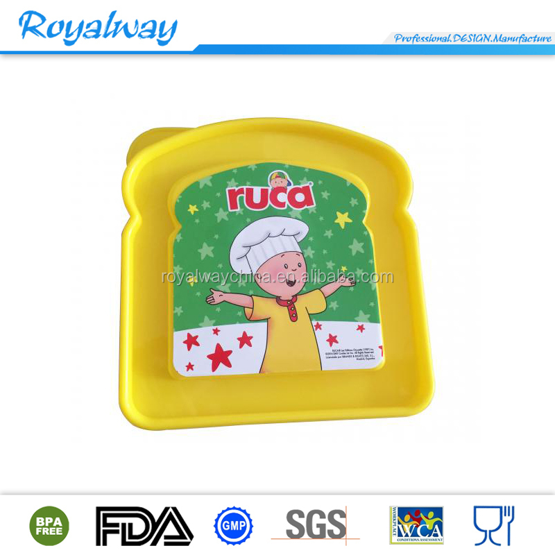 Protable bpa free kids sandwich keeper, plastic sandwich container