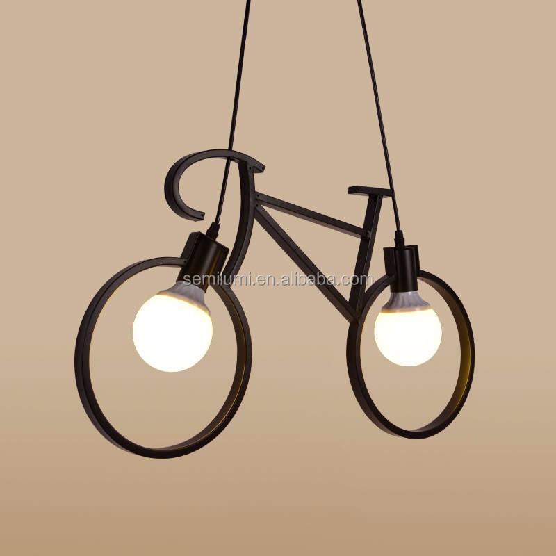 Bicycle suspension lamps Creative modern ceiling light Hanging lamps Contemporary chandelier