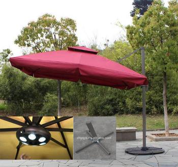 2017 Custom High Quallity Aluminium Square Folding Luxury Roma Waterproof Patio  Umbrellas