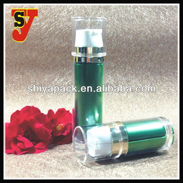 Dual Chamber Cosmetic Bottle Plastic Pump