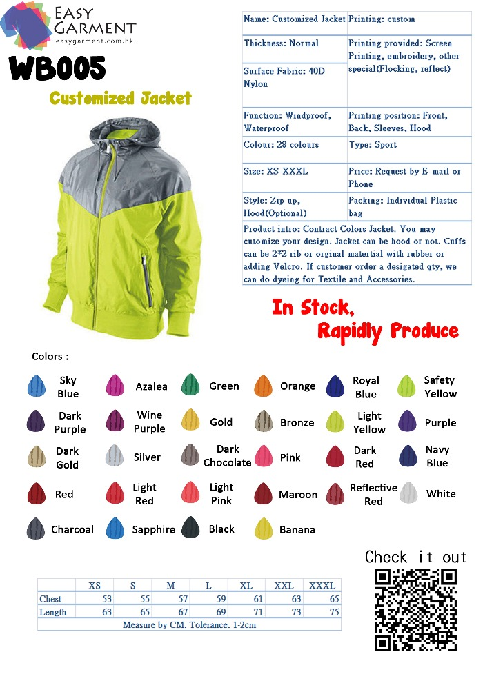 Tailor made up and down color Logo Printing Low MOQ Sport Jacket