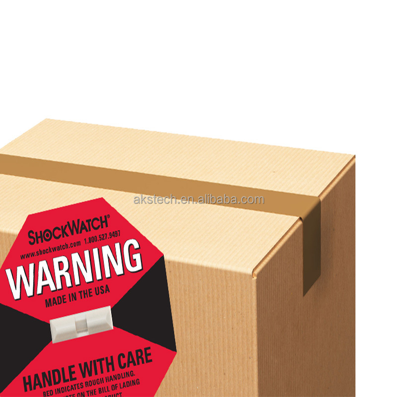 Shockwatch self adhesive shipping labels security sticker and label