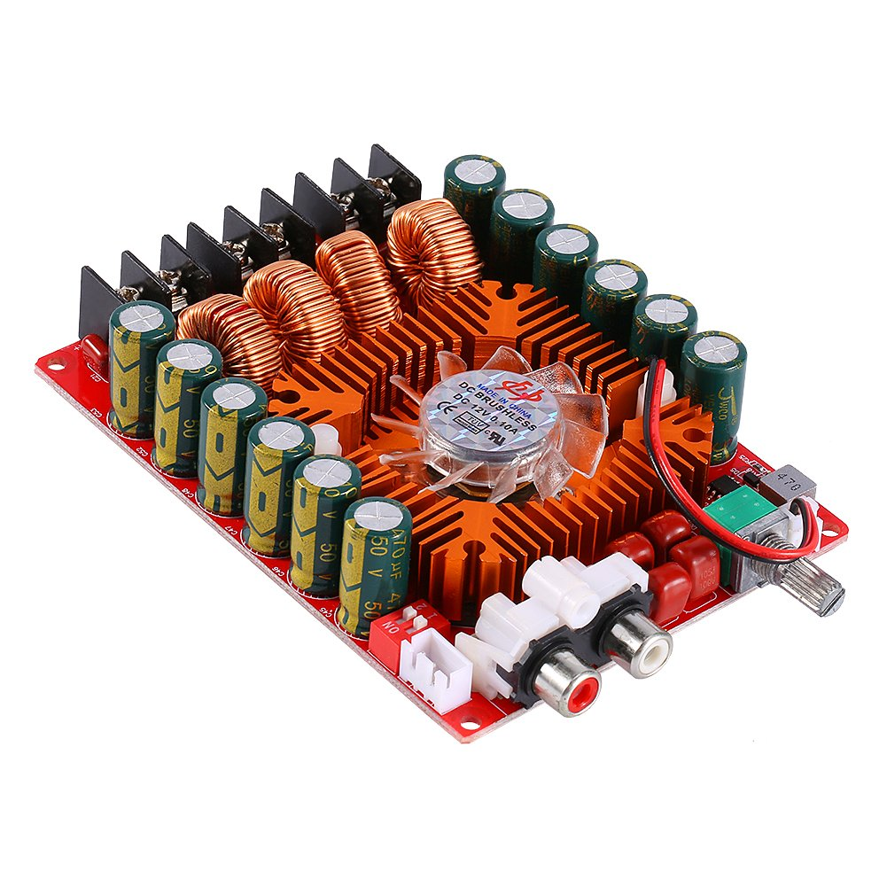 TDA7498E 2x160W Dual Channel Audio Amplifier Board Digital Stereo Power Amp Module Support BTL Mode for Car Vehicle