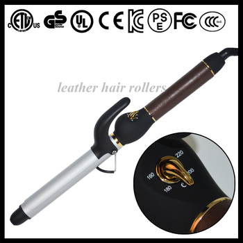 salon hair equipment Rotating cool tip Hair Curler Professional Curling Iron