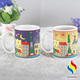 Sensitive Ceramic Hot Water Sublimation Mug 11oz Make City Cup Color Change Customized Size Cup