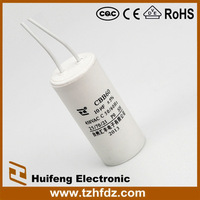 CBB60 ac motor run capacitor with wire series 450V 10uF